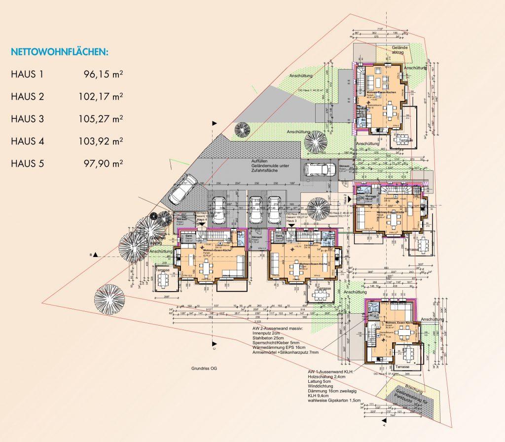 Lageplan der Chalets in Kärnten am Klippitztörl zum Kaufen