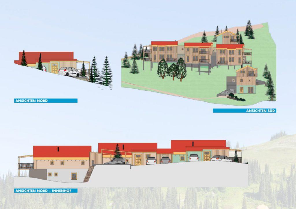Ansichten 1 der Chalets in Kärnten am Klippitztörl zum Kaufen
